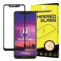 Wozinsky super wytrzymałe szkło hartowane Full Glue na cały ekran z ramką Case Friendly Motorola One czarny
