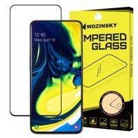 Wozinsky super wytrzymałe szkło hartowane Full Glue na cały ekran z ramką Case Friendly Samsung Galaxy A80 czarny