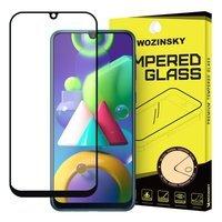 Wozinsky super wytrzymałe szkło hartowane Full Glue na cały ekran z ramką Case Friendly Samsung Galaxy M30s / Galaxy M21 czarny