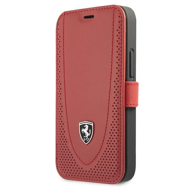 "Ferrari FEOGOFLBKP12SRE iPhone 12 mini 5,4"" czerwony/red book Off Track Perforated"