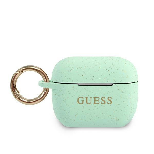 Guess GUACAPSILGLGN AirPods Pro cover zielony/green Silicone Glitter