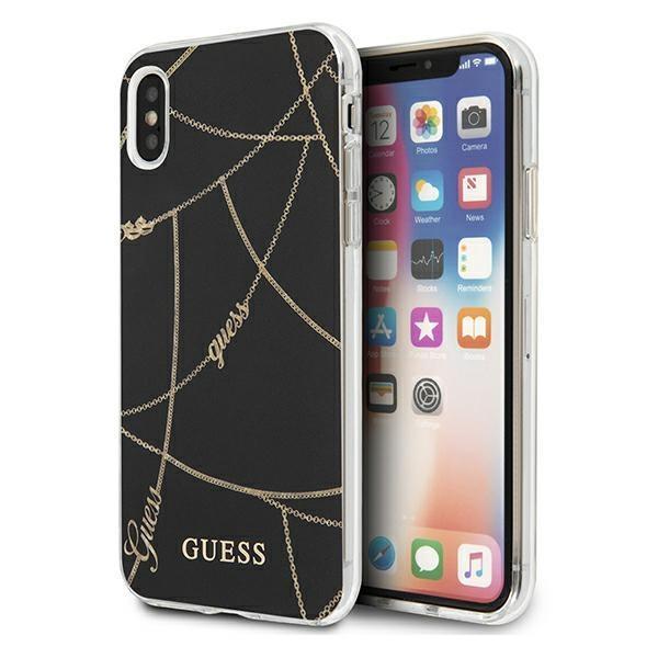 Guess GUHCI65PCUCHBK iPhone Xs Max czarny/black hardcase Gold Chain Collection