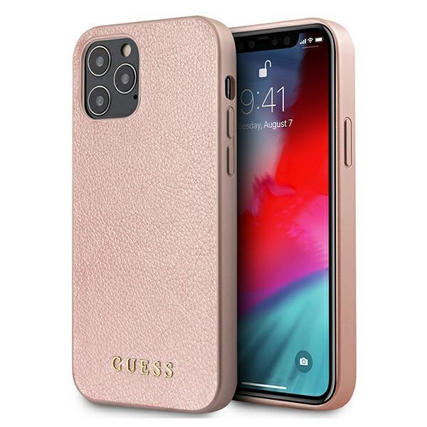 "Guess GUHCP12LIGLRG iPhone 12 Pro Max 6,7"" różowo-złoty/rose gold hardcase Iridescent"