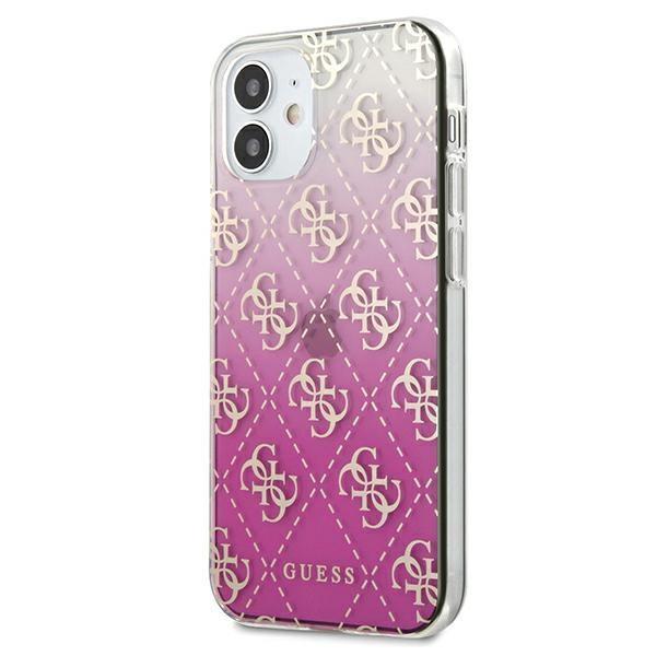 "Guess GUHCP12SPCU4GGPI iPhone 12 mini 5,4"" różowy/pink hardcase 4G Gradient / GUHCP12SPCU4GGPI"