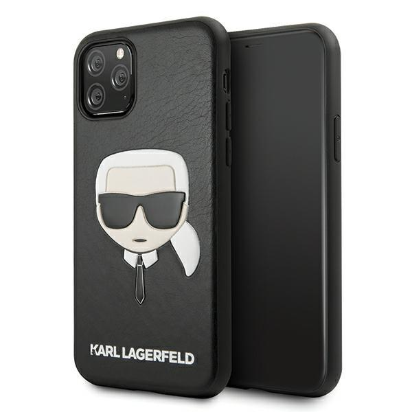 Karl Lagerfeld KLHCN65KHBK iPhone 11 Pro Max czarny/black hardcase Ikonik Karl`s Head