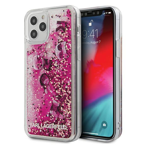 "Karl Lagerfeld KLHCP12MROPI iPhone 12/12 Pro 6,1"" różowy/pink hardcase Glitter Charms"
