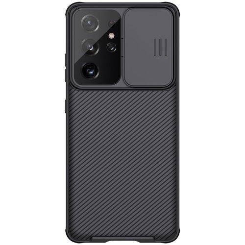Nillkin CamShield Pro Case pancerne etui pokrowiec osłona na aparat kamerę Samsung Galaxy S21 Ultra 5G czarny